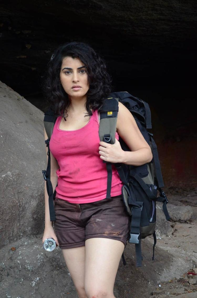 Archana Sizzling And Attractive Photo At Panchami Telugu Movie Press Meet