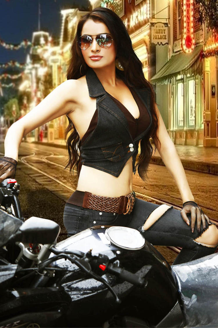 Nisha Movie Heroin Latest Hot Photo On Bike