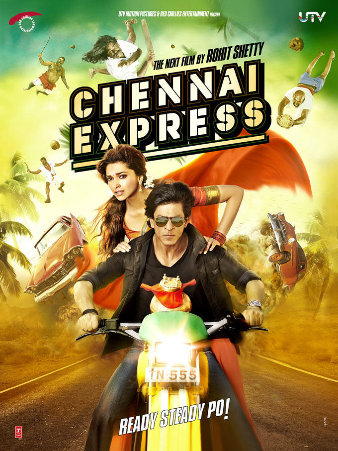 Shahrukh And Deepika On Bike First Look Of Upcoming Hindi Movie Chennai Express