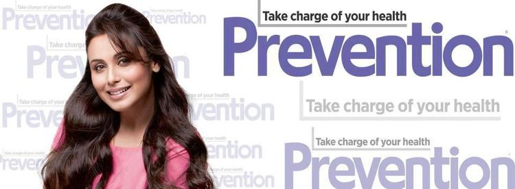 Rani Mukherjee Smiling Pose For Prevention India January 2013 Issue
