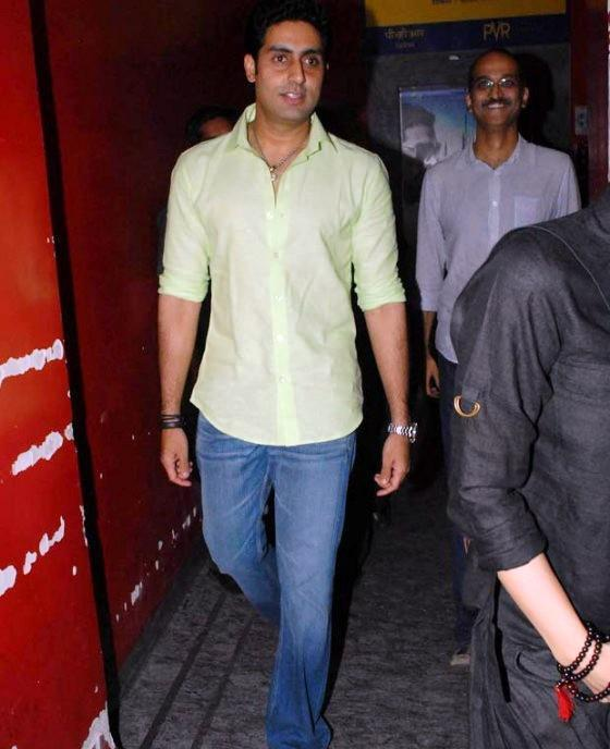 Abhishek Bachchan Arrived At The Screening Of Balak Palak