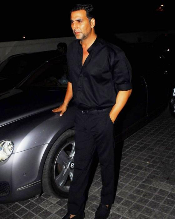 Akshay Kumar Man In Black Spotted At The Screening Of Balak Palak