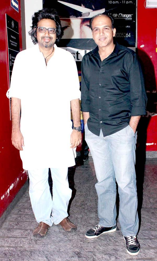 Ashutosh With A Friend Pose For Camera At The Screening Of Balak Palak