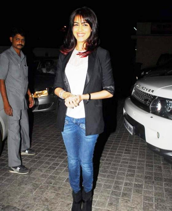Genelia D'Souza Smiling Pose For Camera At The Screening Of Balak Palak