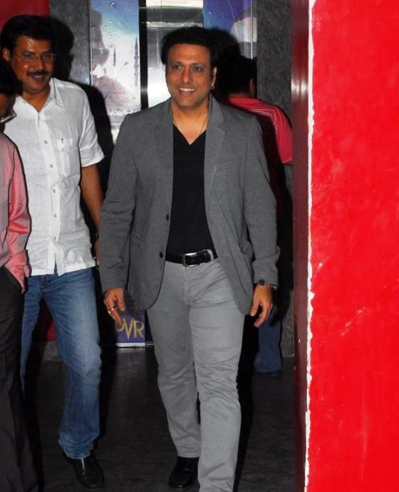Govinda Arrived At The Screening Of Marathi Movie Balak Palak
