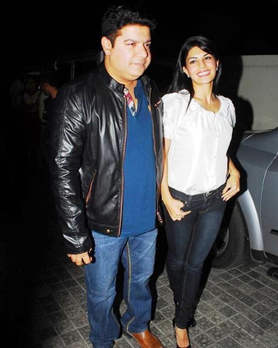 Sajid With Jacquline Fernandez Attend The Marathi Movie Balak Palak Screening