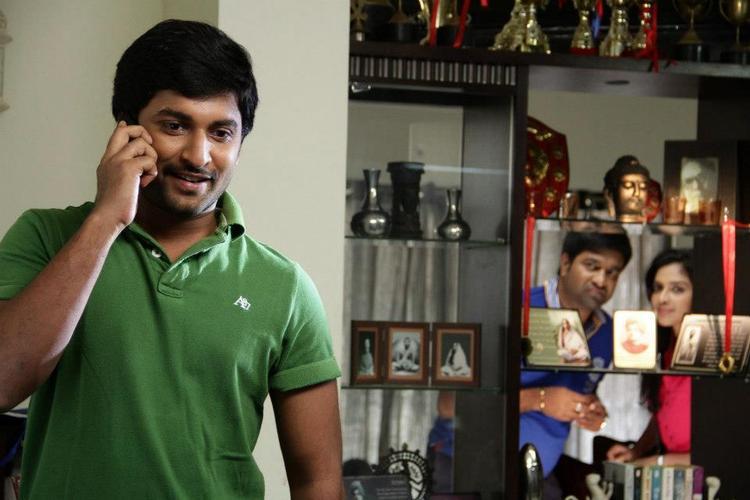 Nani And Amala Smiling Face Look Still From Movie Jenda Pai Kapiraju