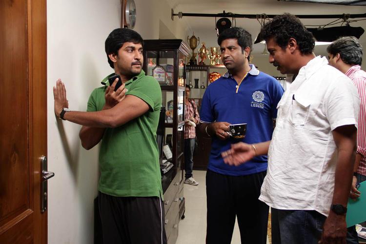 Samuthirakani And Nani Snapped During Jenda Pai Kapiraju Movie Working