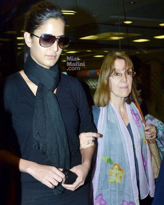 Katrina Kaif With Mom Suzanne Turquotte Spotted At Airport