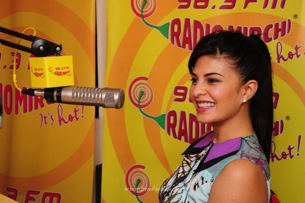 Jacqueline At Mumbai Radio Mirchi During The Promotion Of Race 2 Movie