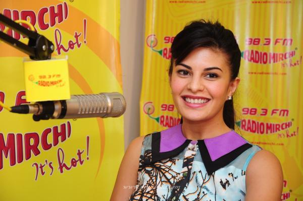 Jacqueline Smiling Still At Radio Mirchi For Promoting Race 2 Movie