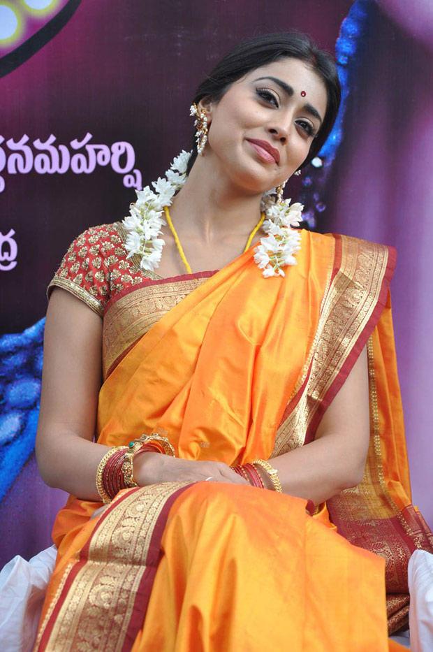 Shriya Saran In Saree Trendy Look Photo Still