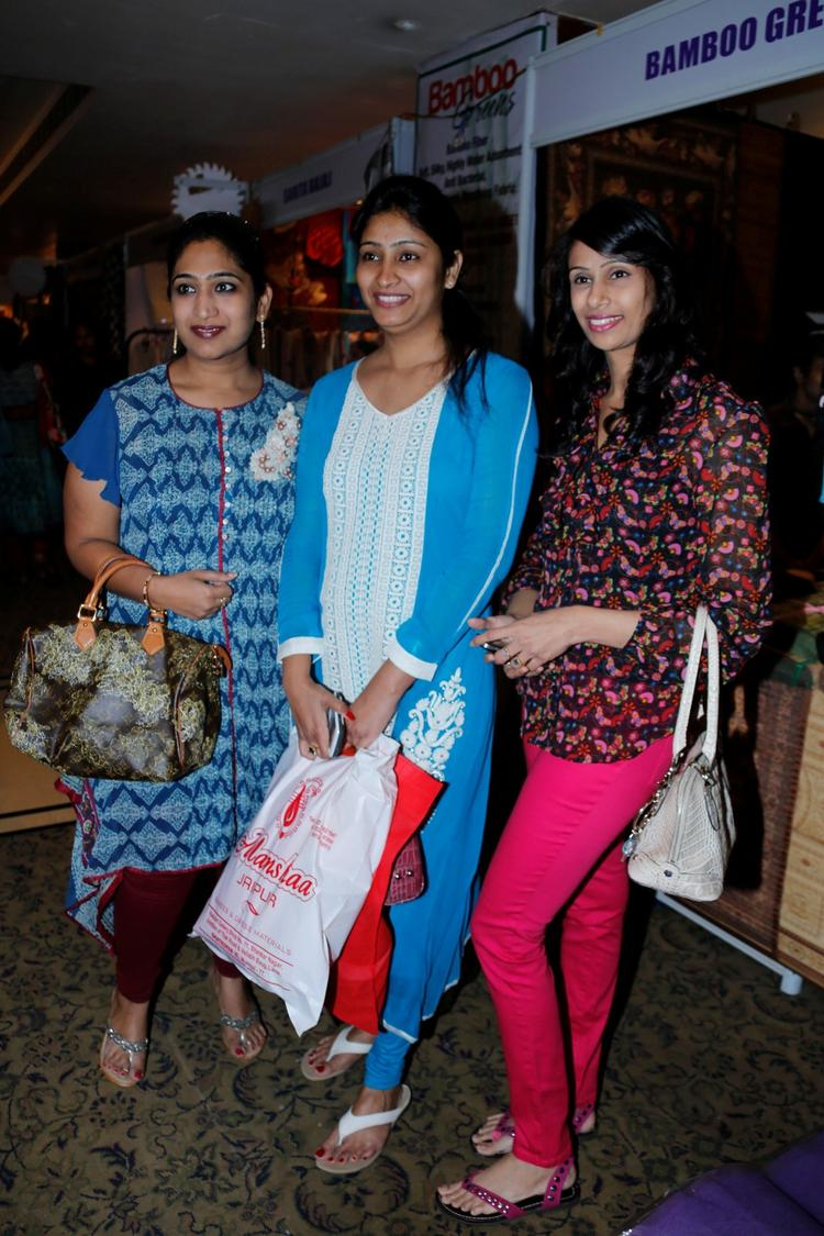 Guests Are Posed At Khwaish Exhibition N Sale
