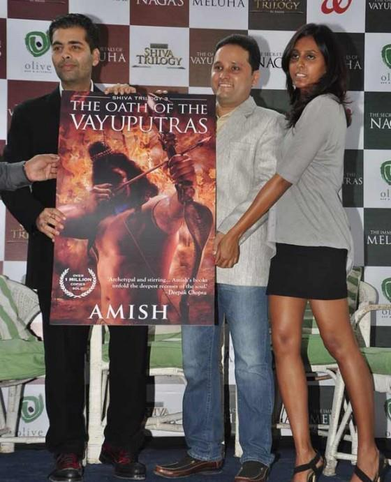 Karan And Amish Launched The Book The Oath Of The Vayuputras