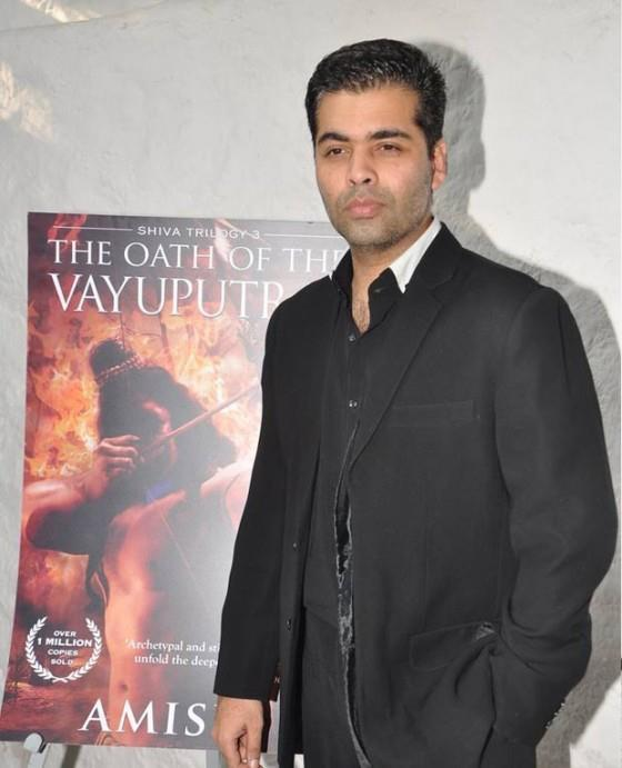 Karan Johar Smart Look Photo Clicked At The Book The Oath Of The Vayuputras Launch