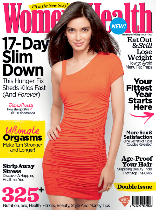 Diana Penty On The Cover Of Women's Health India Jan 2013
