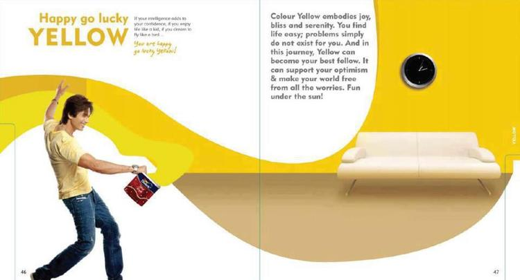 Shahid Kapoor Cool With Yellow Dulux Color Photo Shoot For Dulux Colours And You Book