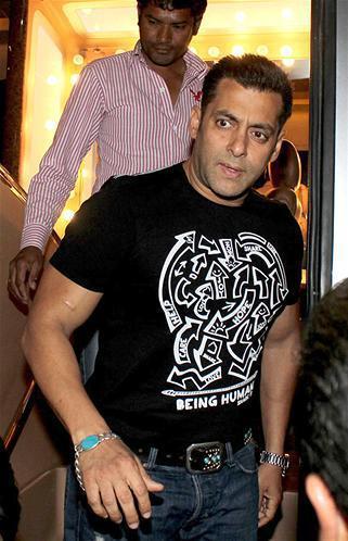 Salman Khan Spotted At Umang Police Show 2013 At Mumbai