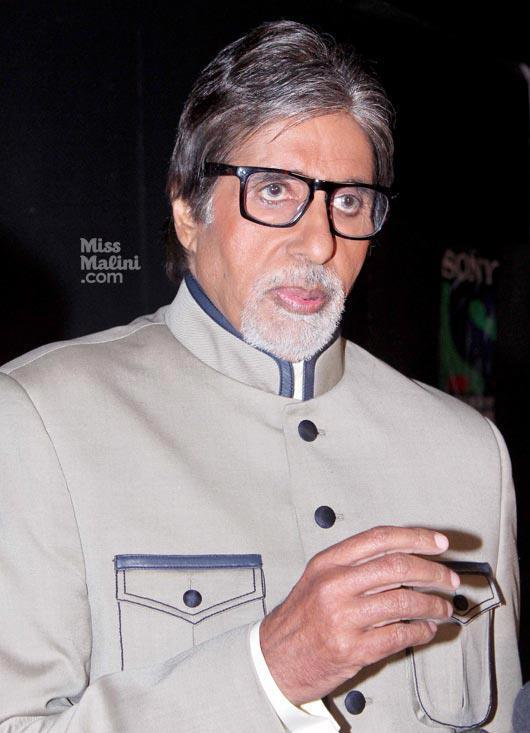Amitabh Snapped During Kaun Banega Crorepati Show