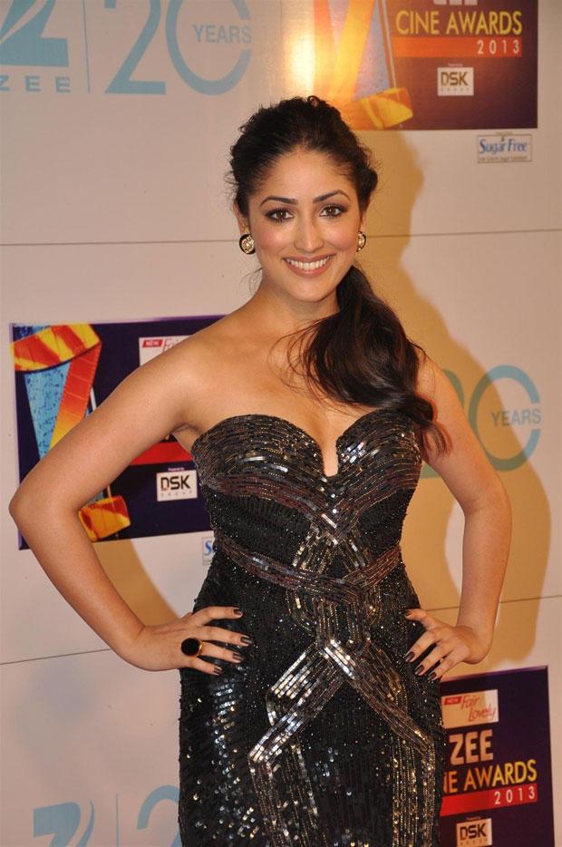 Yami Gautam In Roberto Cavalli Black Gown At Zee Cine Awards 2013