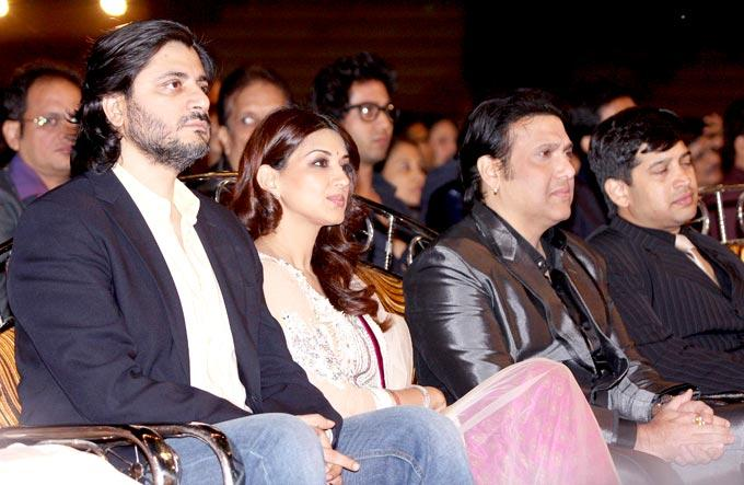 Goldie,Sonali And Govinda Photo Clicked At Umang Police Show 2013 Held In Mumba