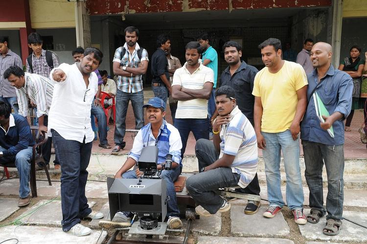 A Still Of On The Sets Of Yaaruda Mahesh Movie