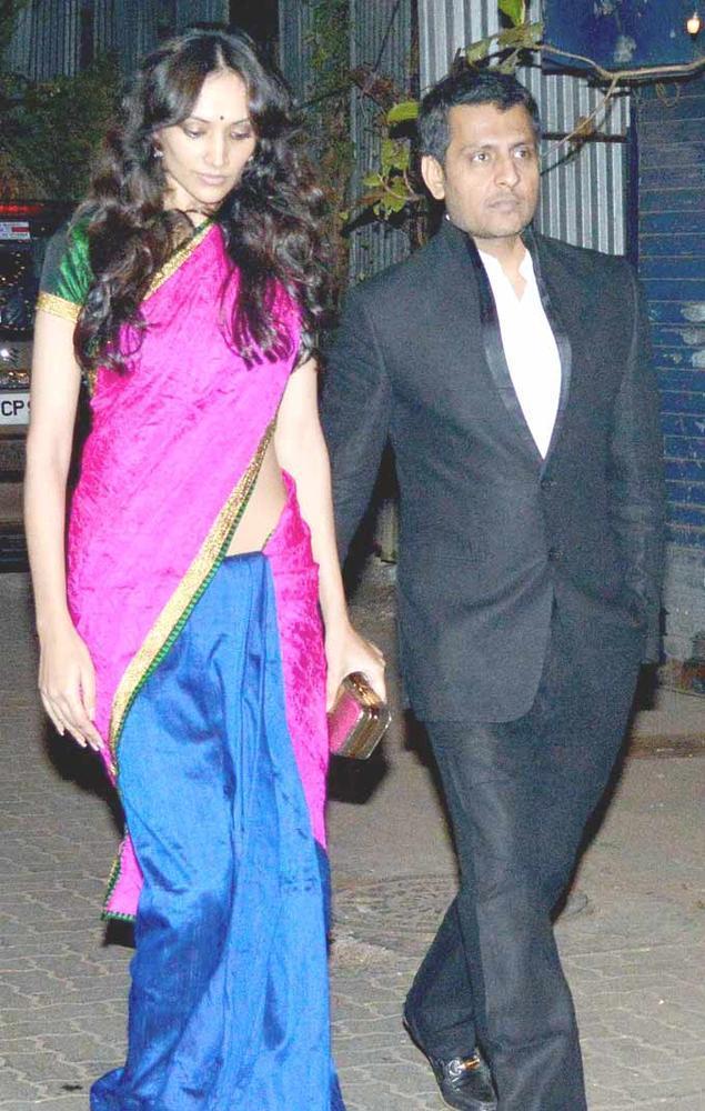 Dipannita With Hubby Dilser  At Shaad Alis Wedding Bash