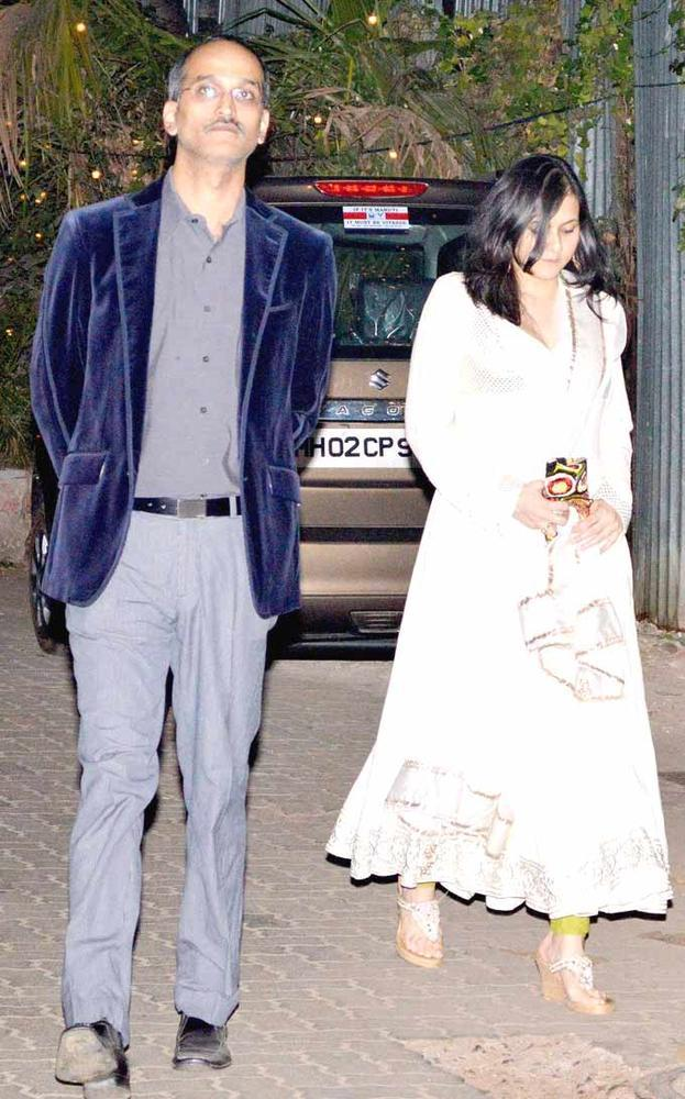 Director Rohan With Wife Roopa Spotted At Shaad Alis Wedding Bash