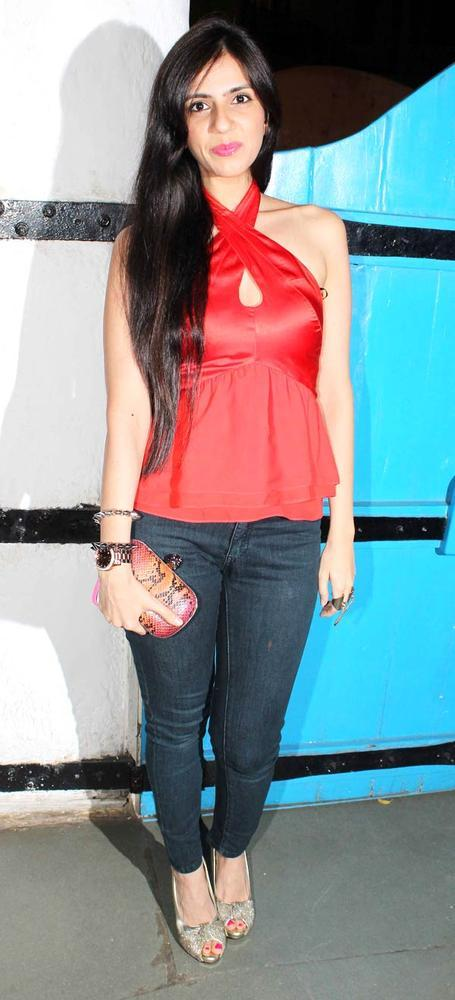 Nishka Lulla Looked Gorgeous In A Red Top At Dabboo Ratnanis Calendar Launch