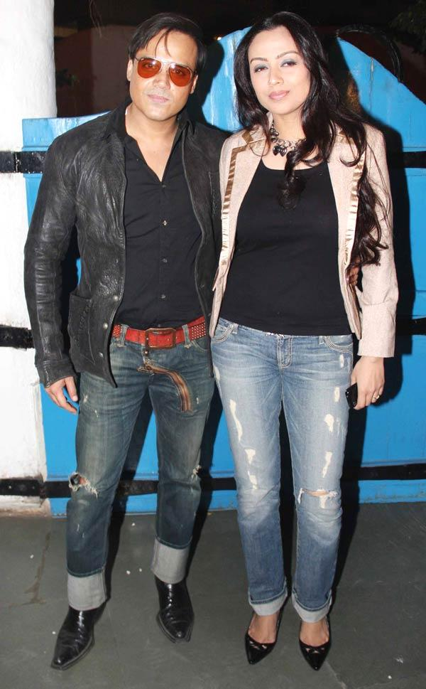Yash Tonk With A Friend Pose For Camera At Dabboo Ratnanis Calendar Launch