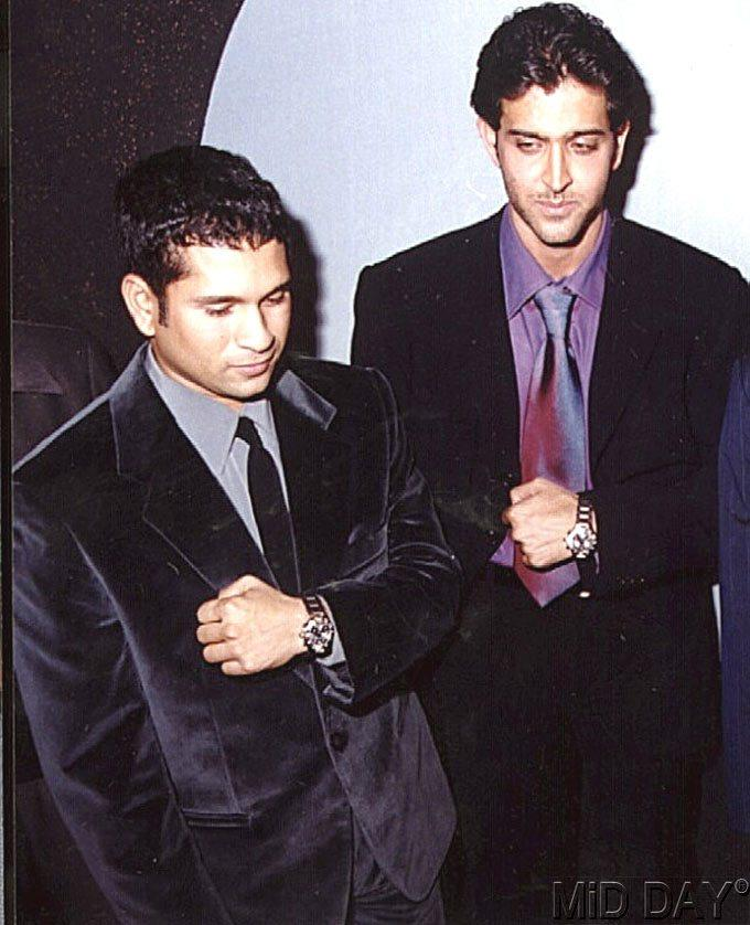 Hrithik And Sachin At A Watch Launch Event