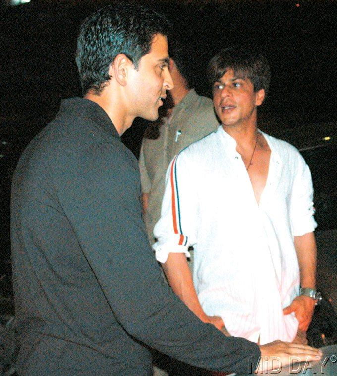 Hrithik And SRK Discussion Still