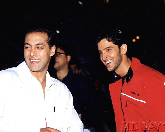 Hrithik With Salman Smiling Still