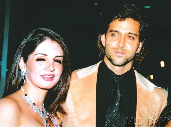 Suzanne With Hubby Hrithik At Zayed Khan's Marriage