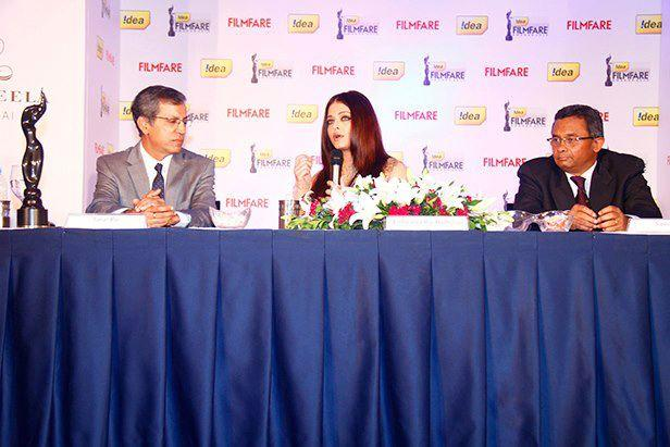 Aishwarya Attends A Press Conference Of 58th Idea Filmfare Awards