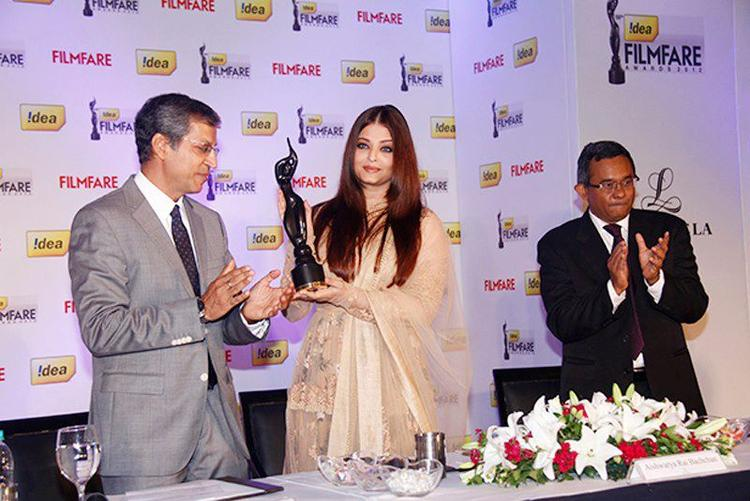Aishwarya During The Press Conference Of 58th Idea Filmfare Awards