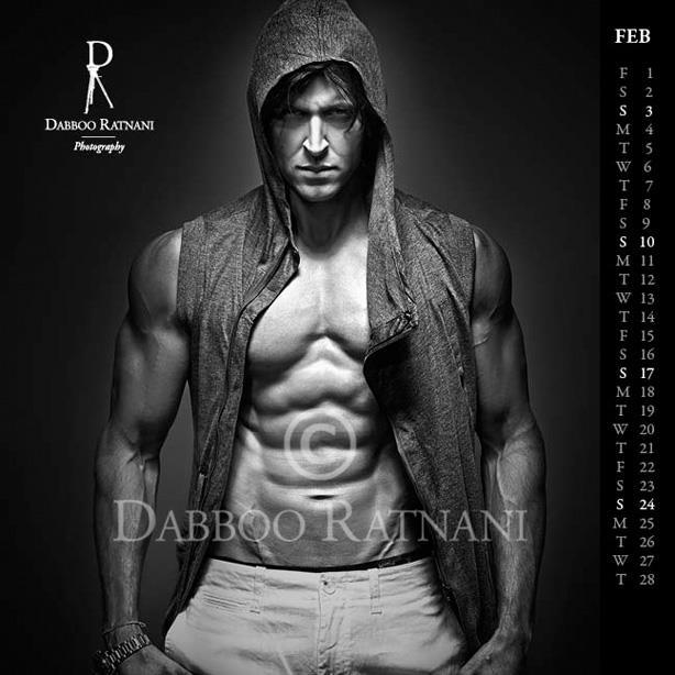 Hrithik Six Pack Hot And Sexy Body Look Photo Shoot For Feb 2013 Dabboo Ratnani Calender