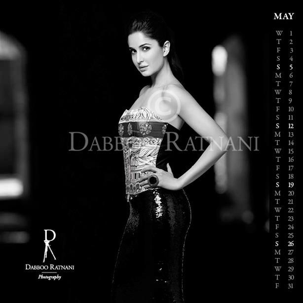 Katrina In Strapless Dress Hot Look For May 2013 Dabboo Ratnani Calender