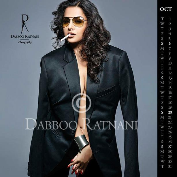 Vidya Spicy Sexy Look Shoot For Oct 2013 Dabboo Ratnani Calender