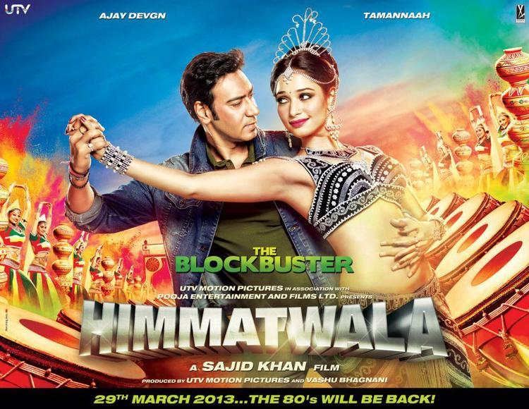 Ajay And Tamanna Dancing Photo In Himmatwala Movie Poster