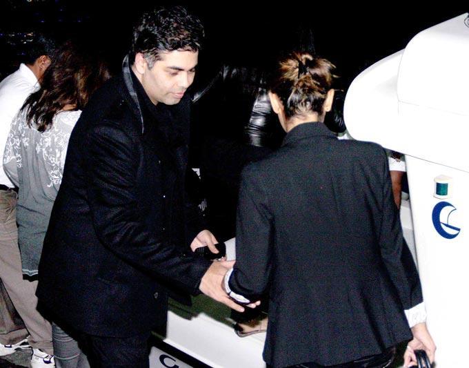 Karan Johar Present At Hritik Roshan Birthday Bash