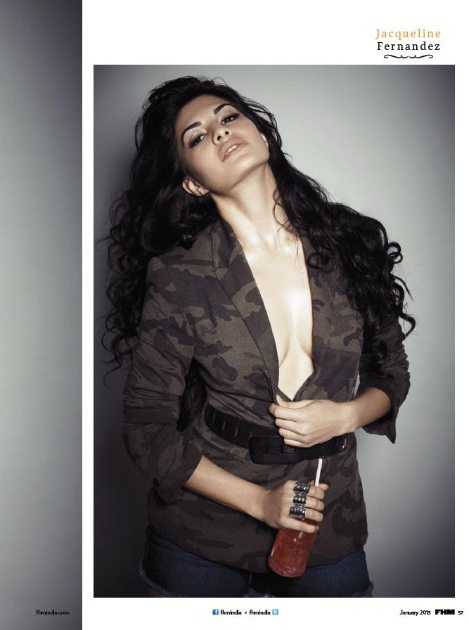 Jacqueline Fernandez Sexy Expression Photo On FHM Magazine