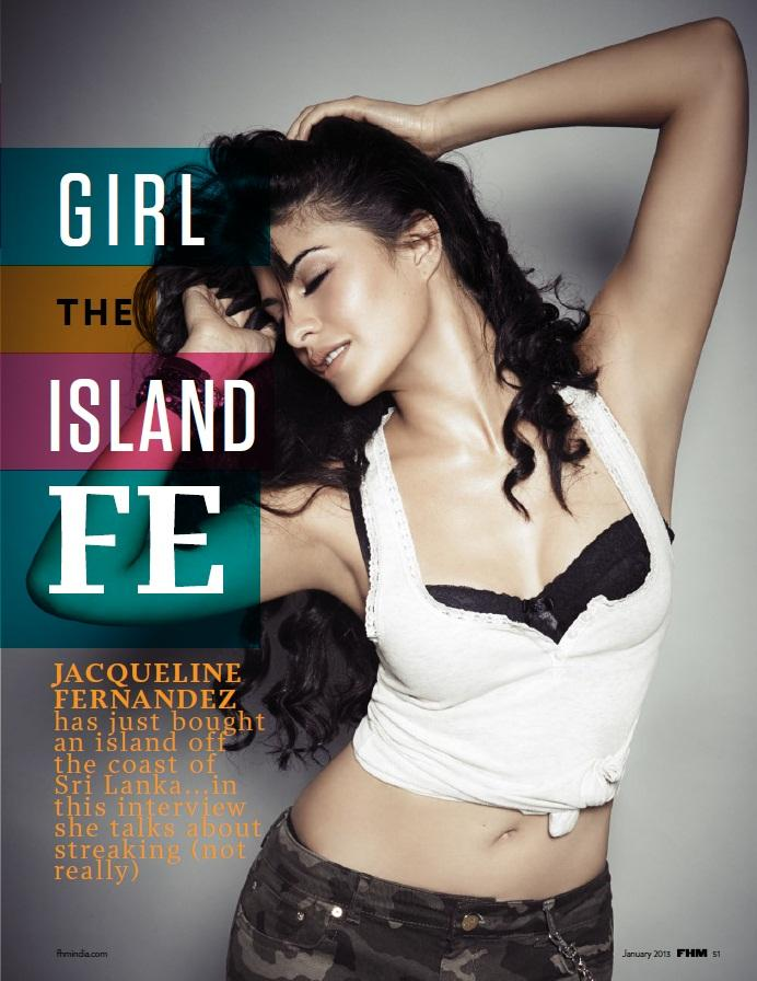 Jacqueline Fernandez Sizzling Photo On FHM Magazine