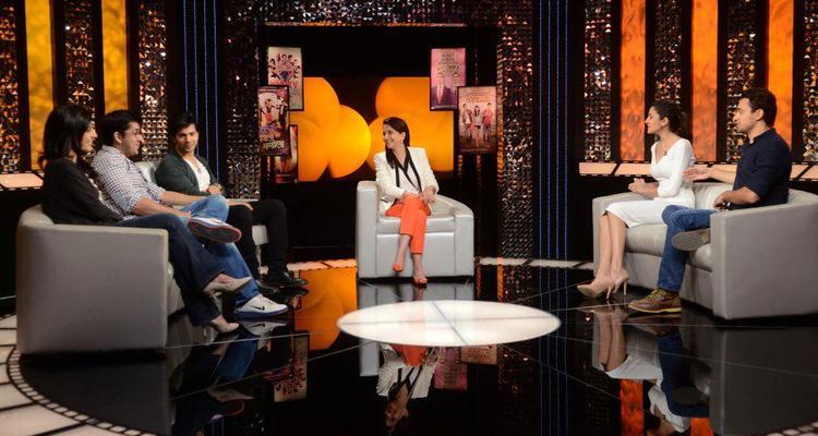 Imran,Anushka,Varun,Rohit And Juhi On The Front Row Show With Anupama Chopra