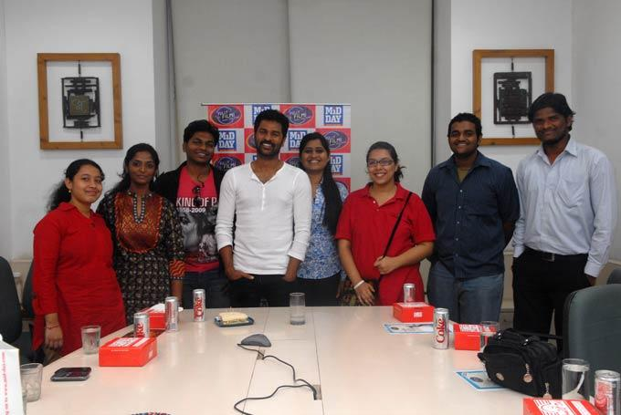 Prabhu Deva And Others Posed For At Camera MiD DAY Office
