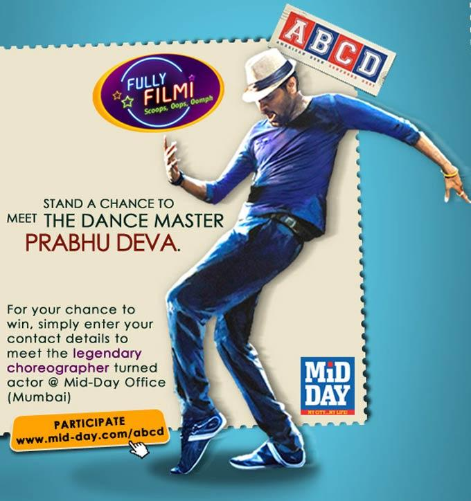 Prabhu Deva Dancing Pose Still In ABCD Movie Poster
