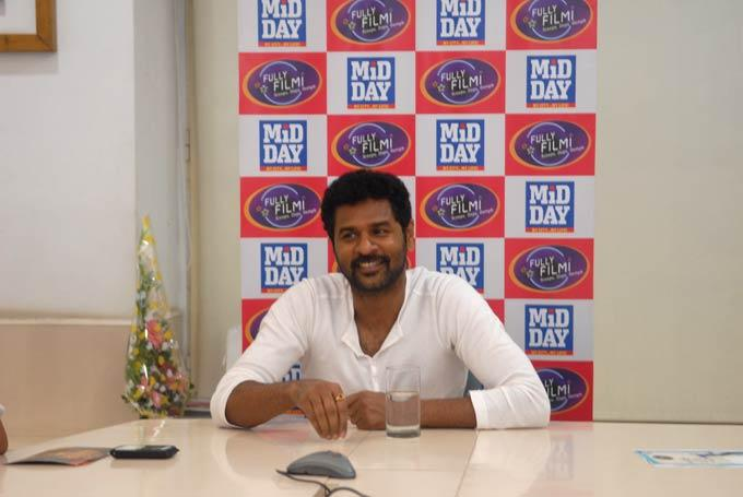 Prabhu Deva Flashes Smiling At MiD DAY Office
