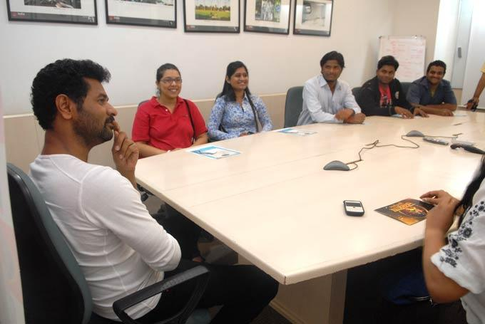 Prabhu Deva Spotted At MiD DAY Office For Promoting ABCD Movie