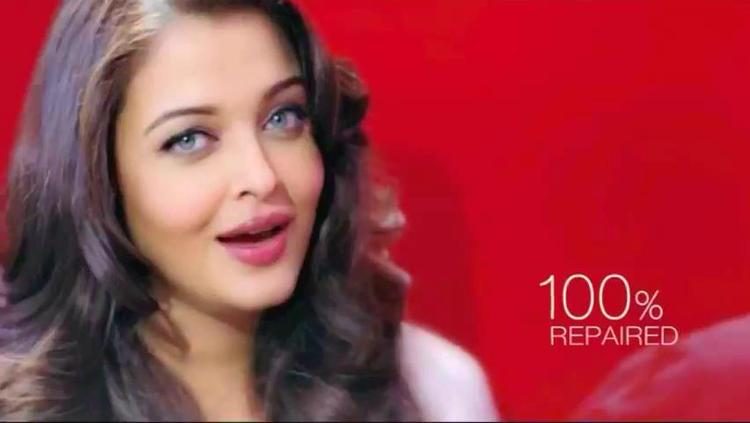 Aishwarya Dazzling Face Look Photo Shoot For L'Oreal Paris Total Repair 5 Ad