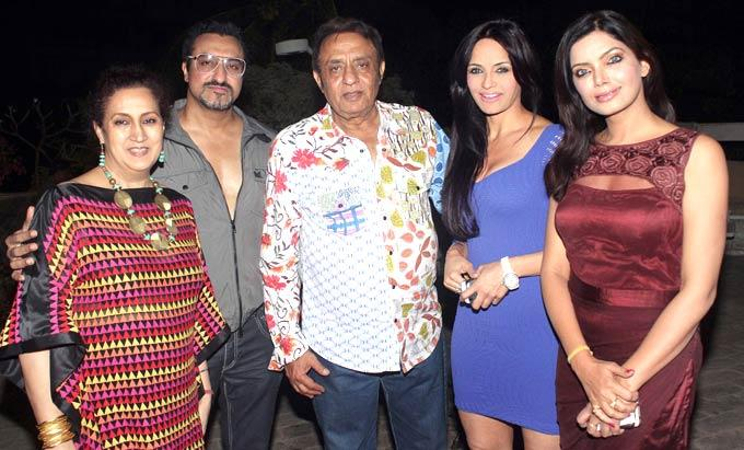 Mohomed,Ranjeet And Wife Naazneen Pose With Other Guests At Ranjeet And Wife Nazneen Dinner Party